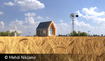 mehdi nikzamir house on the wheat field